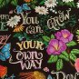 "Don't Worry Be Happy 42"" wide 15"" long Window Curtain Valance Cotton fabric"