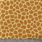 "Giraffe Spots Safari Style 42""W 15""L Window Curtain Valance Cotton  fabric"