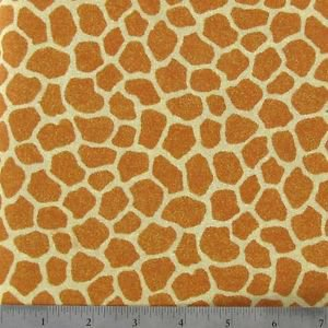 "Giraffe Spots Safari Style 42""W 15""L Window Curtain Valance Cotton  fabric"