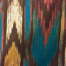 "Southwestern Print Topper  Window Curtain Valance  Cotton fabric 42""W x 15""L"