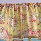 "Yellow Floral Rose Bedroom Bathroom Nursery Valance Curtain Cotton 43""W x 15""L"