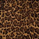"Brown Black Leopard Spots 42""W 15""L Curtain Valance Cotton fabric"