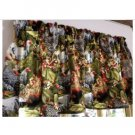 "Fall Autumn Chickens Hens Rooster 43""W 15""L Window Curtain Valance Cotton"