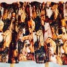 "Western Wild Horses HaNdMaDe Window Curtain Valance Cotton fabric 43""W x 15""L"