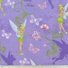 "Purple Orchid Tinker bell 42""W 15""L Window Curtain Valance Cotton  fabric"