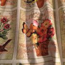 "Valance Garden Blocks  42""W 15""L Window Curtain Topper Cotton fabric"