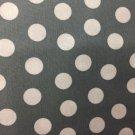 "Grey White Polka Dot Valance HaNdMaDe Window Topper Cotton fabric 43""Wx15""L"