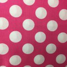 "Pink White Polka Dots HaNdMaDe Window Curtain Valance Cotton fabric 43""W x 15""L"