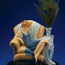 CLOUDWORKS - Lady in Chair with Peacock Feathers - 192-50045