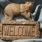 CAST IRON Bear Welcome Plaque - 170-08445