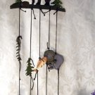CAST IRON Bears and Bells Wind Chime - 170-02086