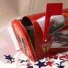 COCA-COLA Coke Tin Metal Mailbox with Flag - 67-669107