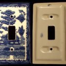 BLUE WILLOW Ceramic Double Light Switch Cover - 194-08A