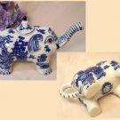 BLUE WILLOW Ceramic Elephant Teapot - 194-961389