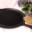 COOKWARE Heavy Cast Iron Round Griddle and Grill Pan - 166-10148