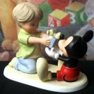 "DISNEY Mickey Mouse and Boy with Present ""You're a gift to me"" - 99-4004003"