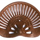 FARM & TRACTOR Heavy Cast Iron Rust Walter A Wood Tractor Seat - 184-0339