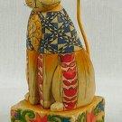 JIM SHORE Stone Resin Jim Shore Cat Figurine Patriotic - 99-117047