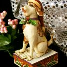 "JIM SHORE Stone Resin Jim Shore Dog ""Bark The Herald Angels Sing"" - 20-4007934"