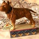 JIM SHORE Stone Resin Jim Shore Heartwood Creek Pit Bull Terrier Dog Figurine - 20-4009748