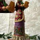 JIM SHORE Stone Resin Jim Shore Christmas Caroler Woman - 20-4005327