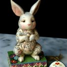 JIM SHORE Stone Resin Jim Shore Colorful Bunny Rabbit Figurine - 20-4009244