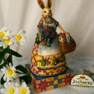 JIM SHORE Stone Resin Jim Shore Easter Bunny with Basket - 20-4001850