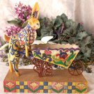 JIM SHORE Stone Resin Jim Shore Heartwood Creek Bunny and Wheelbarrow Figurine - 20-4001849