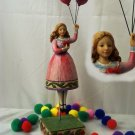 JIM SHORE Stone Resin Jim Shore Girl with Balloons - 20-4007237