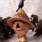 JIM SHORE Stone Resin Jim Shore Scarecrow Head Birdhouse with Crow - 20-4005330