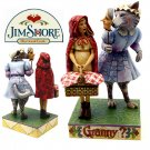 JIM SHORE Stone Resin Jim Shore Heartwood Creek Little Red Riding Hood and Wolf - 20-4009753
