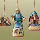 JIM SHORE Stone Resin Jim Shore Holy Family Hanging Ornaments Set of 3 - 99-4008796