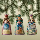 JIM SHORE Stone Resin Jim Shore Set of 3 Wise men Christmas Ornaments - 99-4008795