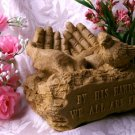 "SPIRITUAL CORNER Bird Feeder - ""By HIS Hands We Are Fed"" - 183-73883"