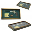 THE OLD WEST Long Barrel Revolver Pistol Shadow Box Display - BW80-72246