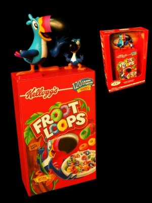 COIN BANK Kellogg's Cereal 100th Anniversary Bank - Fruit Loops - 179-41363