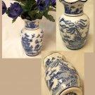BLUE WILLOW Ceramic Floral Vase - 194-974000