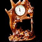 "CLOCKS Mahogany Series ""Giraffe Family Clock"" - 181-76570"