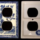 BLUE WILLOW Ceramic Outlet Cover Single - 194-08B