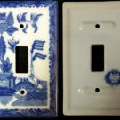 BLUE WILLOW Ceramic Light Switch Cover Single - 194-08C