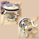 BLUE WILLOW Ceramic Plant Stand - 194-971889