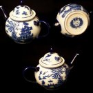 BLUE WILLOW Ceramic Round Teapot - 194-973855