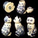 BLUE WILLOW Ceramic Sitting Cat Goody Jar - 194-974272