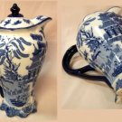 BLUE WILLOW Ceramic Tall Teapot Chocolate - 194-972802