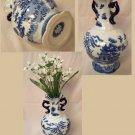 BLUE WILLOW Ceramic Two Handled Vase - 194-972231