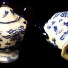 BLUE WILLOW Ceramic Two-Handled Mantle Jar - 194-964258