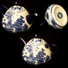 BLUE WILLOW Ceramic Wide Bottom Teapot - 194-974291