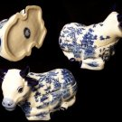 BLUE WILLOW Ceramic Cow Cookie Jar - 194-963115