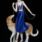 CLOUDWORKS - Lady Walking Borzoi Dog - 192-50021