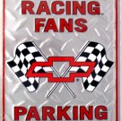 P-002 Chevy Racing Fans Parking Sign